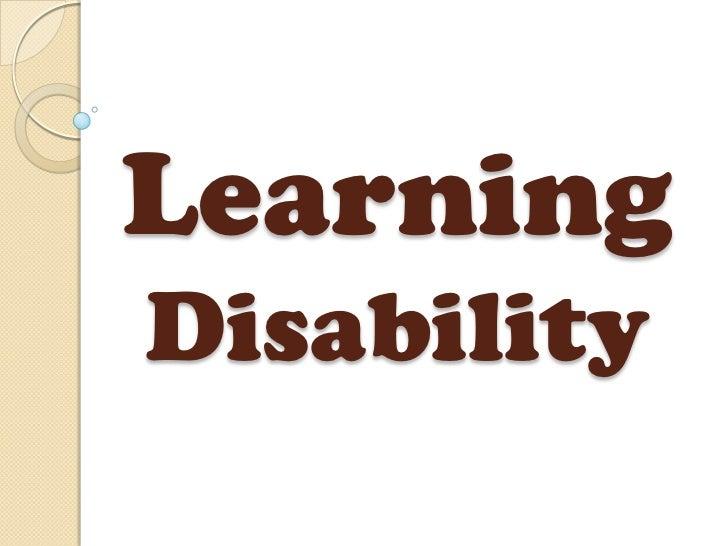 LearningDisability
