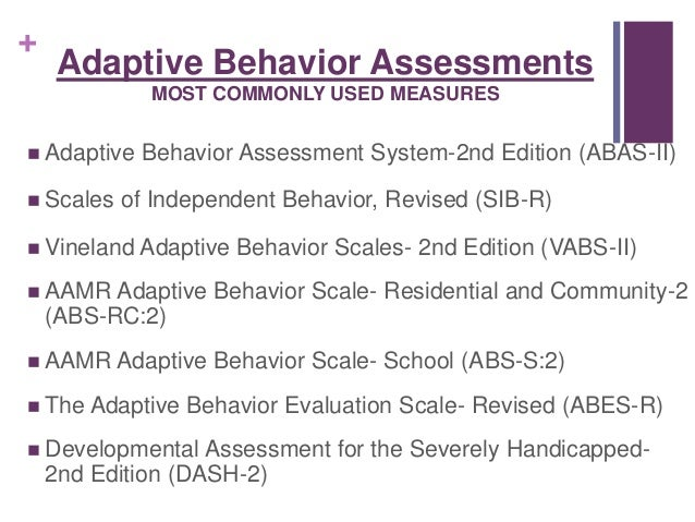 adaptive behavior scale for adults