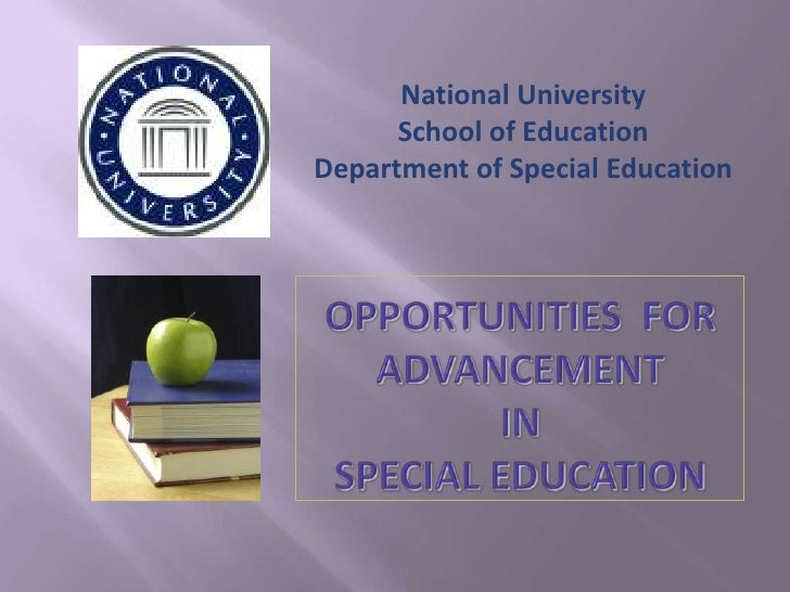 National University       School of Education Department of Special Education