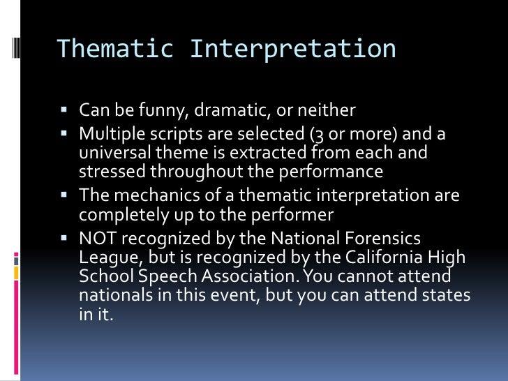 thematic interpretation themes