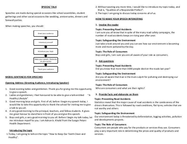 Speech Talk Writing Speech Talk 2 Out Wasting Any More Time. Essay Speech  Format ...