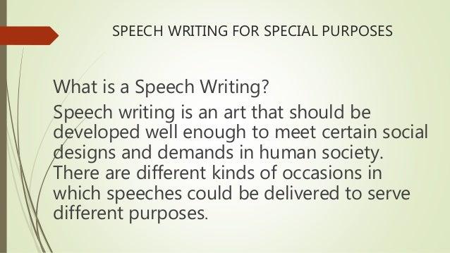 importance of speech writing