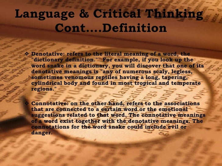 The definition of critical thinking Sur ly