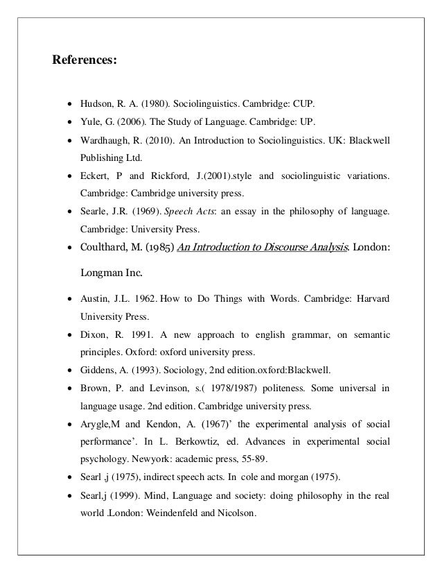 "act essay in language philosophy speech John searle: from speech acts to social reality  language to philosophy  making itself felt in the article ""what is a speech act"" (in philosophy in."