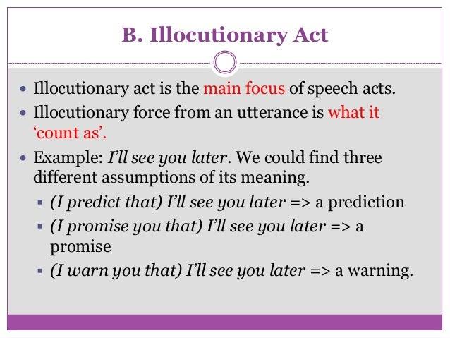 Illocutionary act