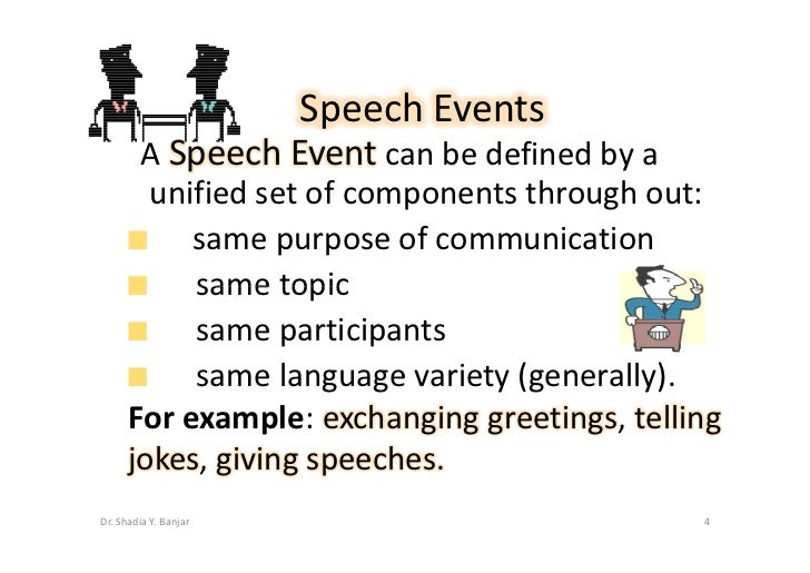 Speech acts and speech events by dradia yousef banjarpptx speech m4hsunfo