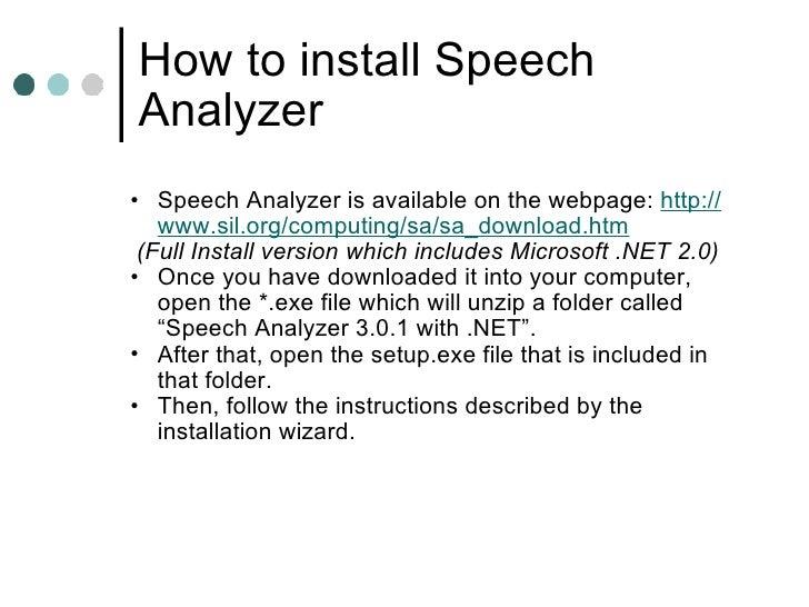 Speech Analyzer
