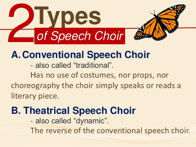 speech choir Wait what exactly is a speech choir i must have asked this same question at  least three different ways when i was first told that i would be.