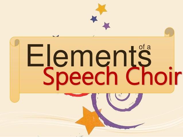 Speech choir
