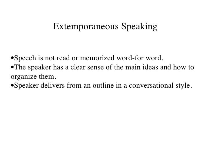 counseling a friend extemporaneous speech 7 things to remember for an extemporaneous speech by jim peterson 1 the secret of successful public speaking and speech writing is using one central idea.