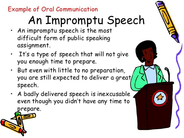 Example Of Oral Communication 105