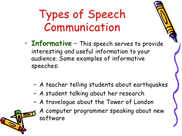 definition of informative speech University of hawai'i maui community college speech department informative speaking informative speech objectives speech length: 9-7 minutes click here to begin preparation now.