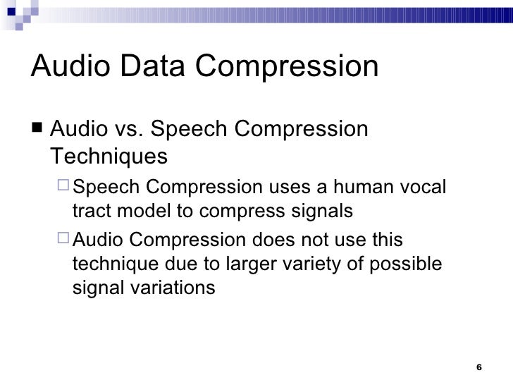 how to use compression for speech