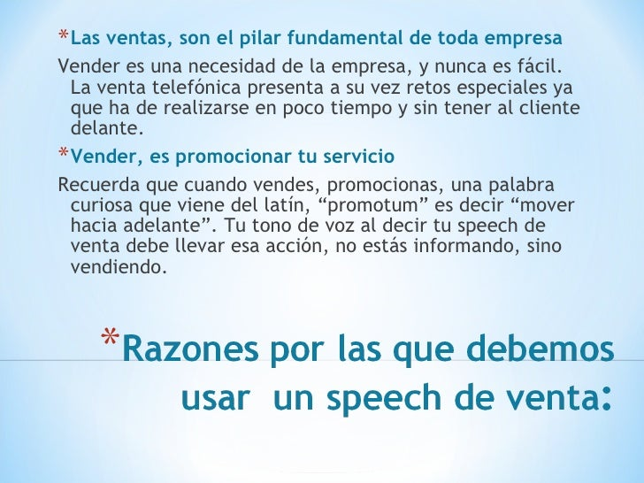 speech de ventas por telefono pdf