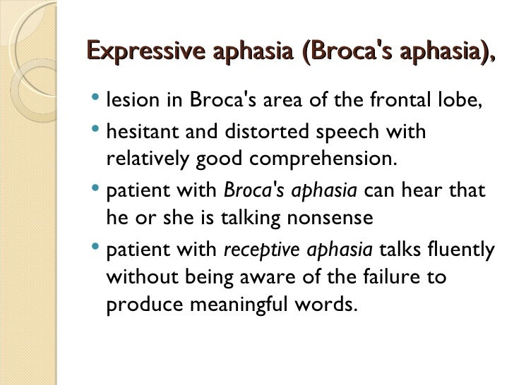 a study of speech improvement on patients with brocas aphasia 3 developing and using scri pts in the treatment of aphasia, aos, and tbi audrey l holland, phd regents' professor emerita university of arizona, tucson.
