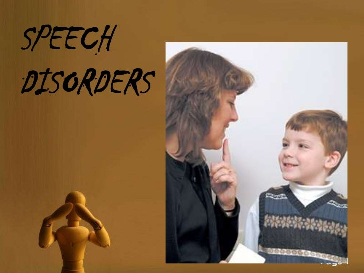 SPEECHDISORDERS            Page 1