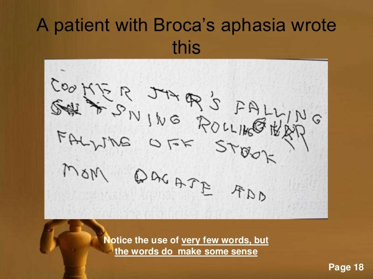 wernickes aphasia disorder essay Wernicke's aphasia and wernicke's area are named after the german neurologist carl wernicke who first related this specific type of speech deficit to a damage in a left posterior temporal area of the brain.