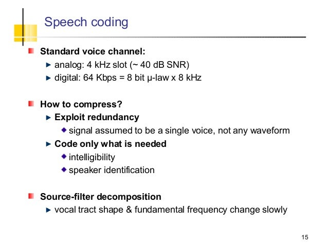Speech encoding techniques