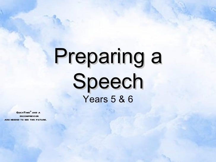 Preparing a Speech Years 5 & 6