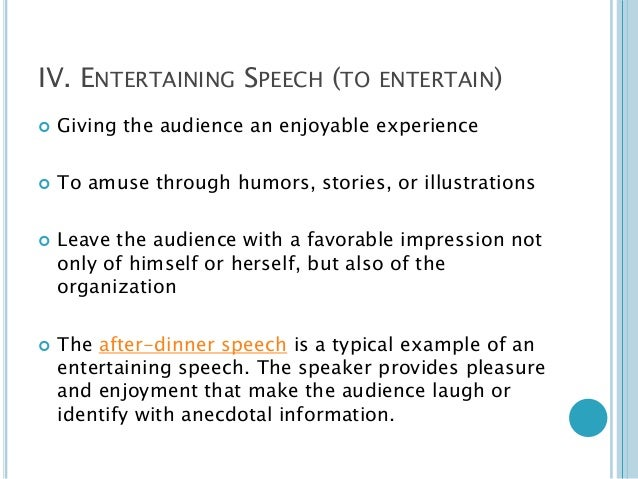 Entertainment Speech Topics