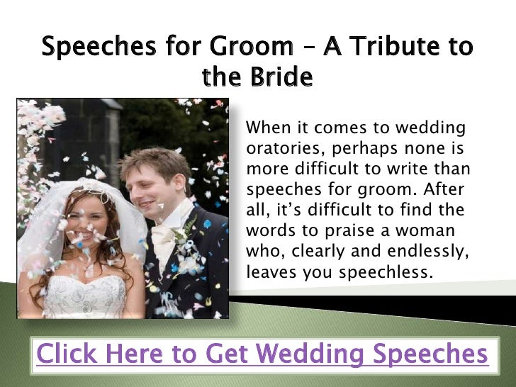 Grooms Speech To Bride Examples: Speeches For Groom A Tribute To The Bride