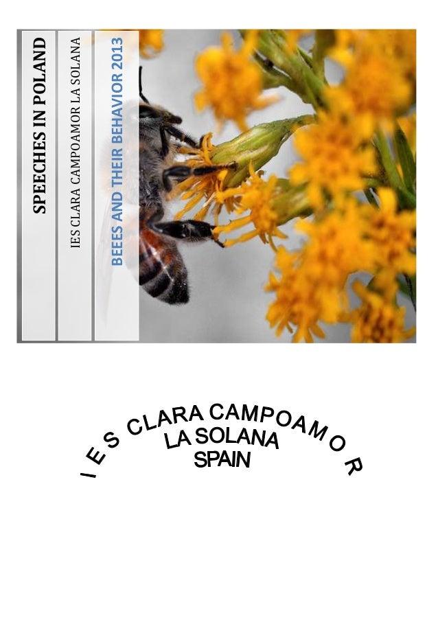 IESCLARACAMPOAMORLASOLANA BEEESANDTHEIRBEHAVIOR2013 SPEECHESINPOLAND