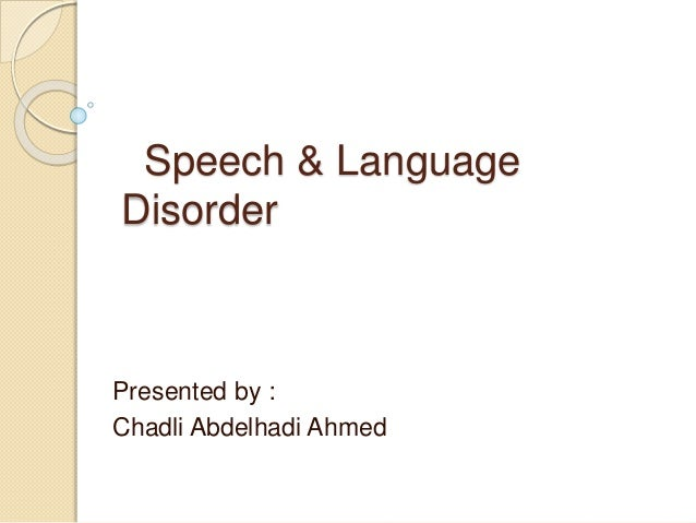 speech disorders research paper