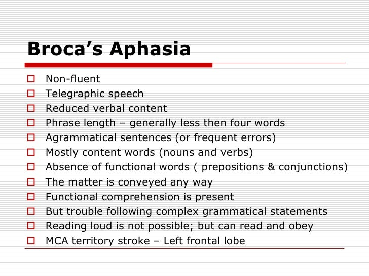 Telegraphic Speech Aphasia  Makeupgirl