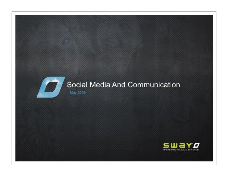 Social Media And Communication May 2009
