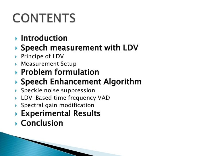 Speech measurement using laser doppler vibrometer