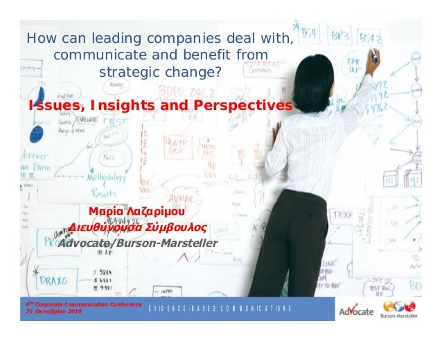EVIDENCE-BASED COMMUNICATIONS 4th Corporate Communication Conference 21 2010 How can leading companies deal with, communic...
