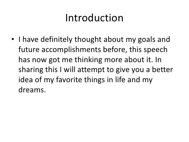 Example of introduction speech for presentation – Introductory Speech Example