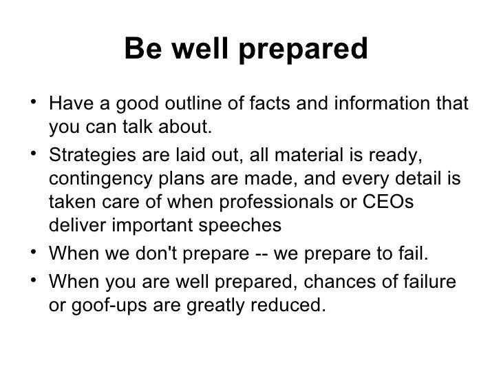 what is a prepared speech