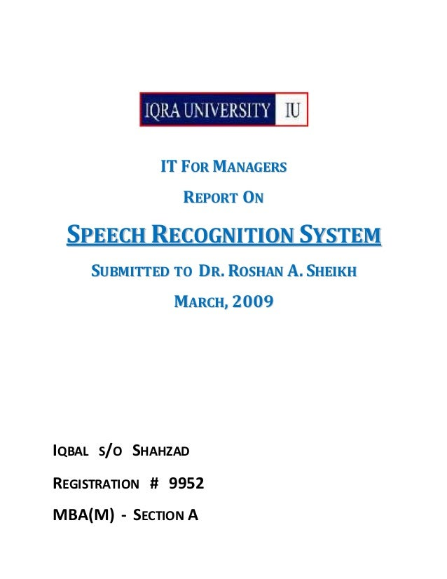 Speech Recognition by Iqbal