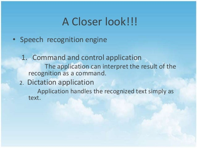 an overview of the characteristics of automatic speech recognize systems In this chapter, we give a brief introduction to speech-driven applications in order to motivate whyit is desirable to automatically recognize particular speaker characteristics from speech.