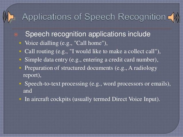 Speech recognition final presentation