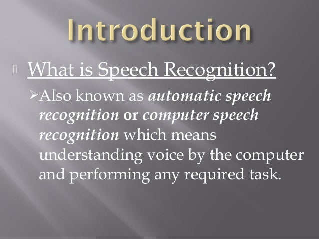 artificial intelligence for speech recognition essay Natural language processing,  artificial intelligence,  sentiment analysis, speech recognition, and topic segmentation.