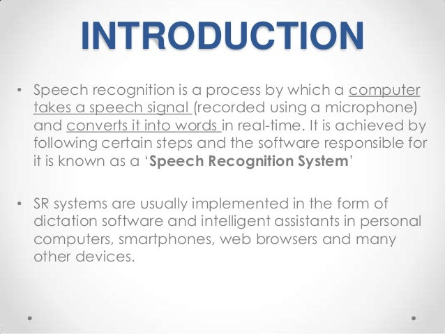 an introduction to the analysis of recognition Artificial neural network for speech recognition austin marshall  νa cepstral analysis is a popular method for  an introduction to natural language processing.