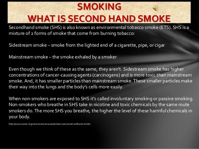speech for smoking Speech for smoking essay sample in this class four people had lost a loved one because of smoking another ten people in this class often inhale second hand smoke.