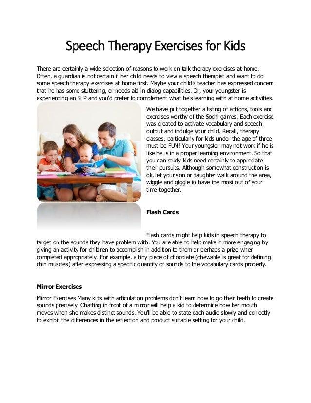 Speech for fitness