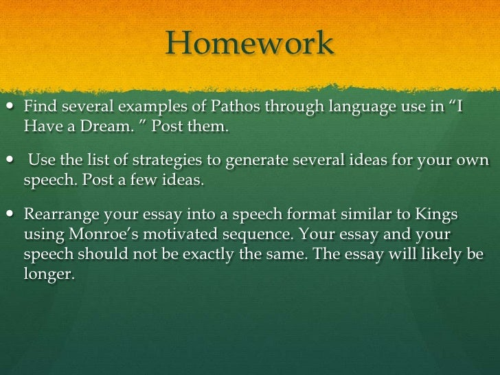 courtesy of richard l weaver ii 13 homework find several examples - Example Of Speech Essay