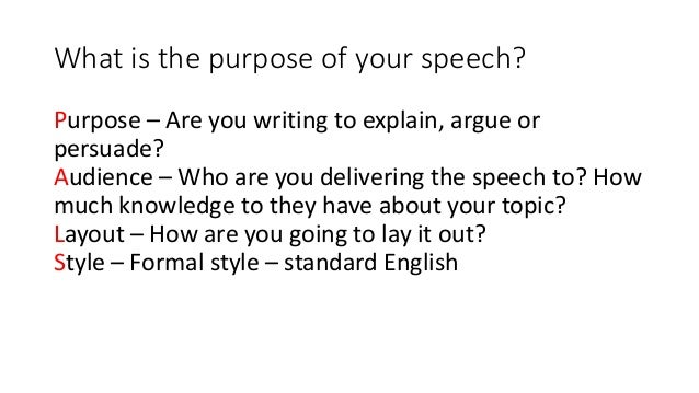how to write a formal speech This online activity allows students to go through the step-by-step process on how to write a speech and deliver it as a culminating experience, students can read.