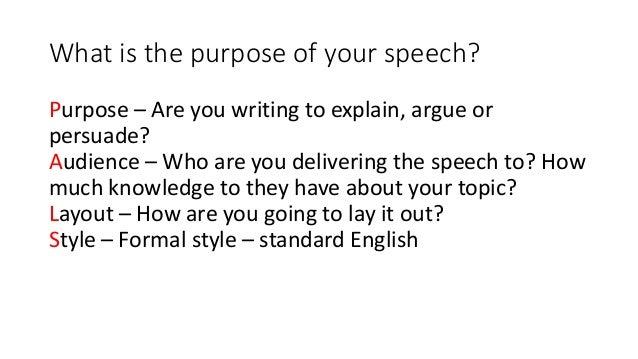 speech writing template
