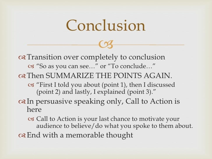 speech writing introduction and conclusion conclusion  transition