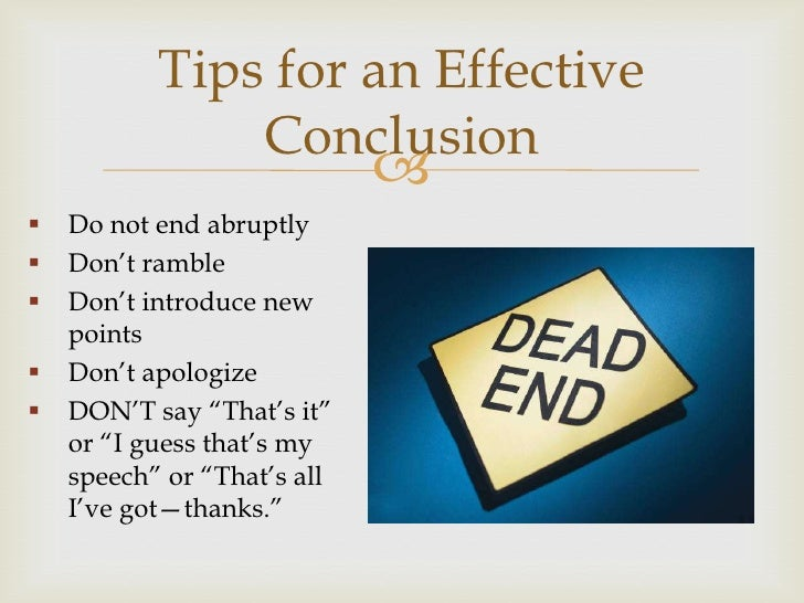 speech writing introduction and conclusion end a memorable thought 12