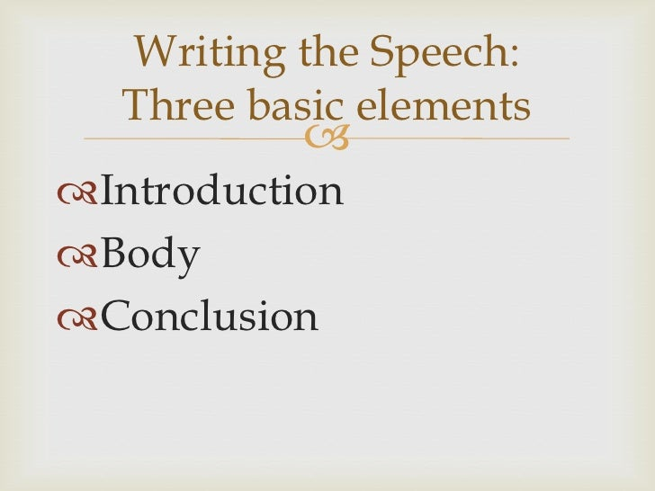 Speech Writing Introduction And Conclusion
