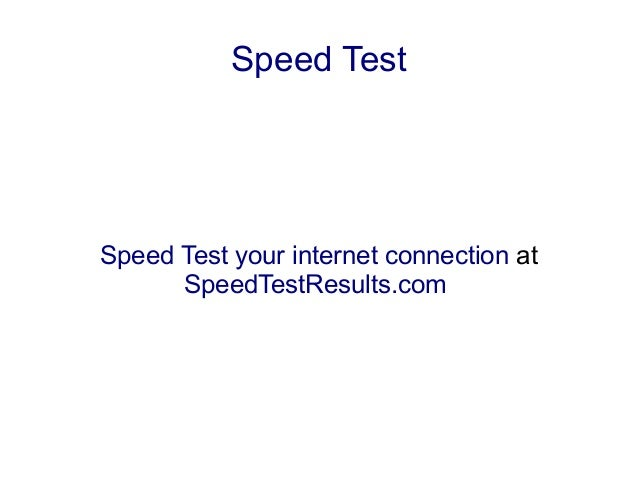 Test your internet speed at&t