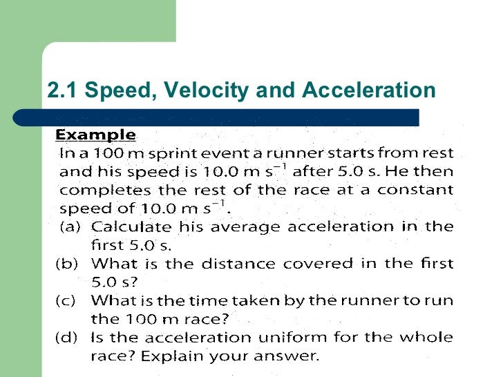 Speed Velocity And Acceleration – Speed Velocity Acceleration Worksheet