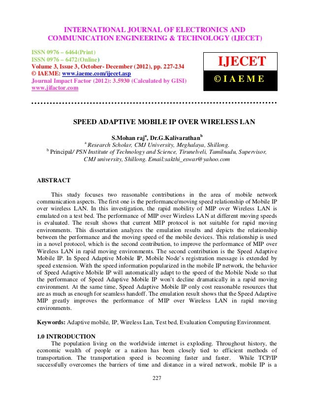 International Journal of Electronics and JOURNAL OF ELECTRONICS AND ISSN 0976 –              INTERNATIONAL Communication E...