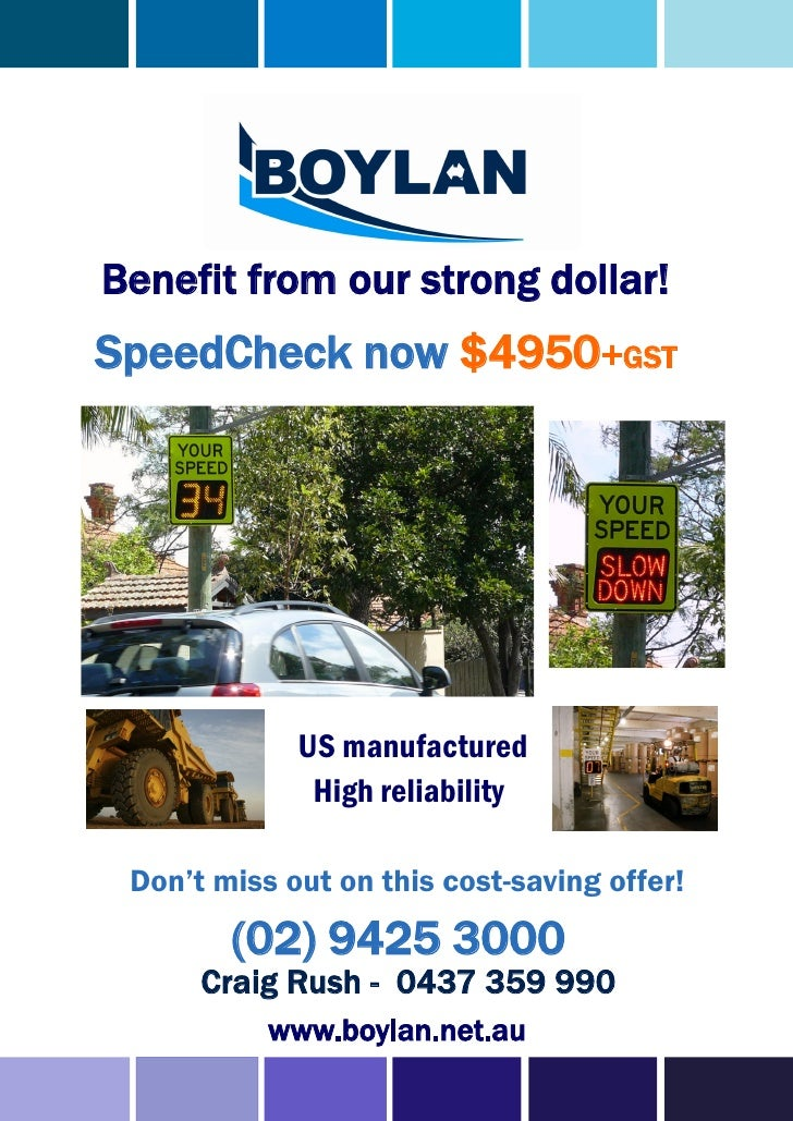 Benefit from our strong dollar!SpeedCheck now $4950+GST             US manufactured              High reliability Don't mi...